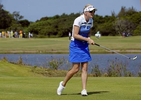 Suomen Ursula Wickström oli mukana Rion olympiagolfissa.