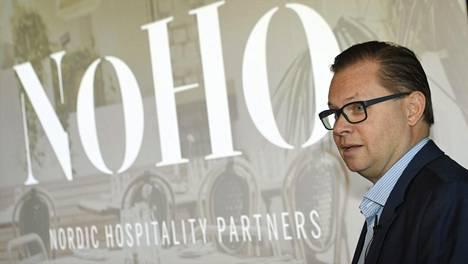 Entisen Restamaxin, nykyisen NoHo Partnersin toimitusjohtaja Aku Vikström esitteli yhtiön uutta strategiaa tiistaina.