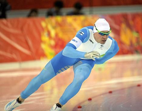 Mika Poutala viime talven olympialaisissa.