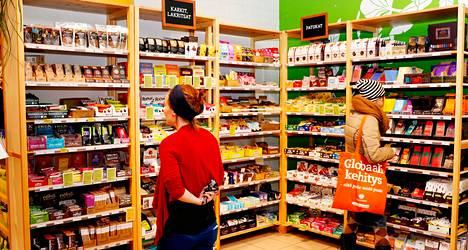 Ruohonjuuren myymälä Kampissa.