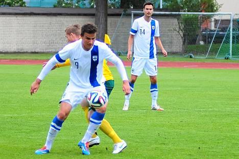 Eero Markkanen debytoi maajoukkueessa Liettuaa vastaan.