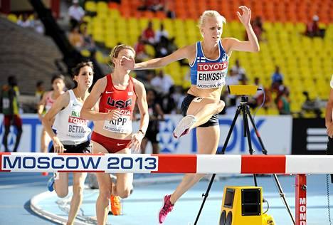 Sandra Eriksson Moskovan MM-kisoissa kesällä 2013.