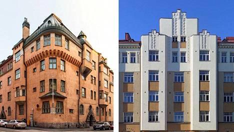 Katajanokan Luotsikadulla ja Saariniemenkadulla Siltasaaressa on näin kauniita taloja.