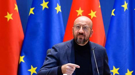 Eurooppa-neuvoston puheenjohtaja Charles Michel osallistui videokokoukseen EU:n ja Kiinan johtajien kanssa.