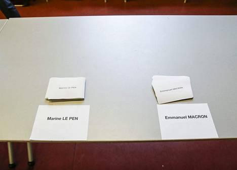 Ranskan valinta vuonna 2017. Ehkä myös 2022. Äänestyslippuja edellisissä presidentinvaaleissa.
