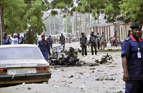 Nigeriassa on tehty useita iskuja viime aikoina. Kuva on Kanon kaupungista toukokuun lopulta.