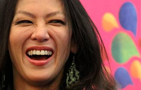 Amy Chua puhui Jaipurin kirjallisuusfestivaaleilla tammikuussa 2012.
