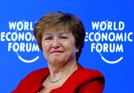 Maailmanpankin tilapäisenä pääjohtajana toiminut Kristalina Georgieva osallistui Maailman talousfoorumin vuosittaiseen kokoukseen Davosissa tammikuussa.