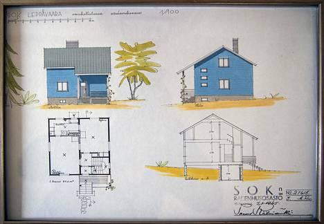 Jaakkimantielle rakennettiin kolmea eri talotyyppiä. Talotyypit on suunnitellut SOK:n rakennusosaston arkkitehti Aarno Raveala, mutta piirustukset on allekirjoittanut osaston johtaja Paavo Riihimäki.
