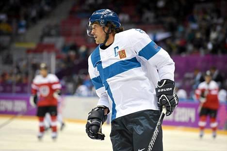 Teemu Selänne on Leijonien kapteeni olympiaturnauksessa.