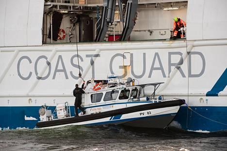 Uponnut vene oli Merivartioston vartiolaiva Turvan partiovene.
