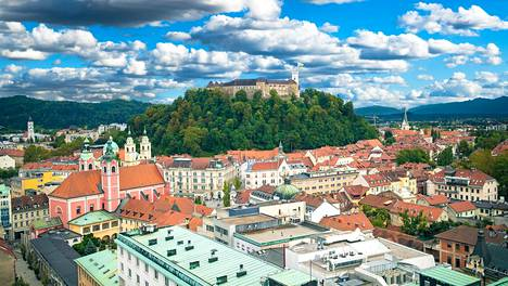 Ljubljana, vihreän Slovenian pääkaupunki.