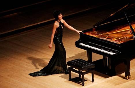 Yuja Wang piti soolokonsertin Lontoossa huhtikuussa.