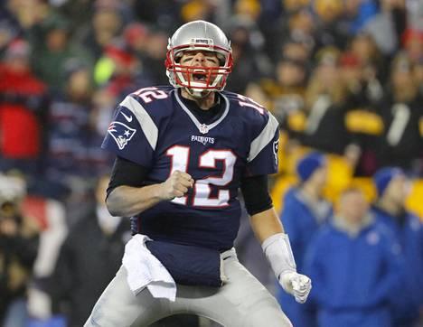 New England Patriotsin pelinrakentaja Tom Brady hakee jo viidettä mestaruutta.