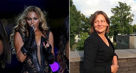 Poptähti Beyoncé Knowles sai aikaan vegaanibuumin, sanoo asiasta väitellyt Outi Lundahl (oik.).