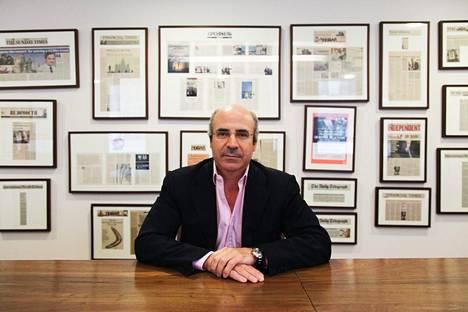William Browder sijoitusyhtiö Hermitage Capital Investmentin kokoushuoneessa Lontoossa heinäkuussa 2013.