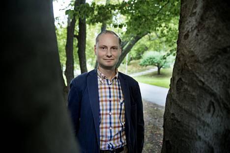 Kirjailija ja historiantutkija Fredrik Charpentier Ljungqvist.