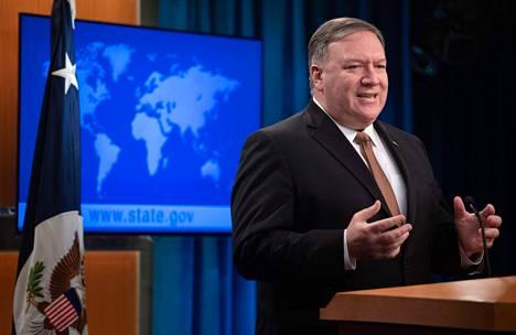 Yhdysvaltojen ulkoministeri Mike Pompeon mukaan Iranin vallankumouskaartin terrorijärjestöksi julistaminen astuu voimaan viikossa.