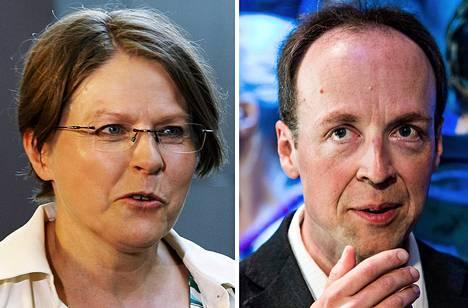 Heidi Hautala ja Jussi Halla-aho