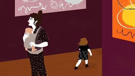 Moni perhe harrastaa kulttuuria pientenkin lasten kanssa.