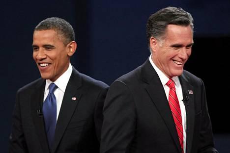 Presidenttiehdokkaat Barack Obama ja Mitt Romney väittelivät viimeksi Denverissä lokakuun 3. päivä.