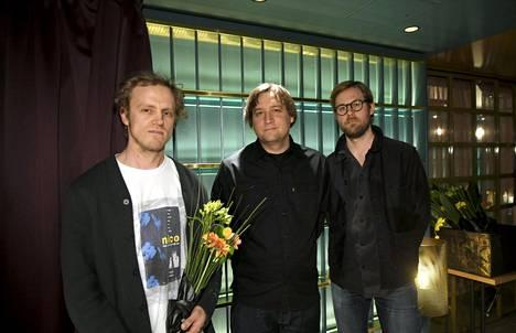 Sur-rur-yhtyeen Ville Vuorenmaa, Ville Laurila ja Kimmo Pohjapelto.