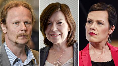 Ahvenanmaalainen Britt Lundberg (keskellä) on Pohjoismaiden neuvoston vuoden 2017 presidentti. Vasemmalla Suomen valtuuskunnan puheenjohtaja Juho Eerola ja oikealla varapuheenjohtaja Maarit Feldt-Ranta.