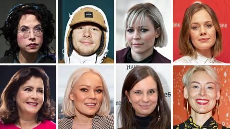 Sofi Oksanen (vas. ylh.), Ville Galle, Paula Vesala, Oona Airola, Elina Ahlbäck, Anna Puu, Olga Temonen ja Laura Lindstedt.