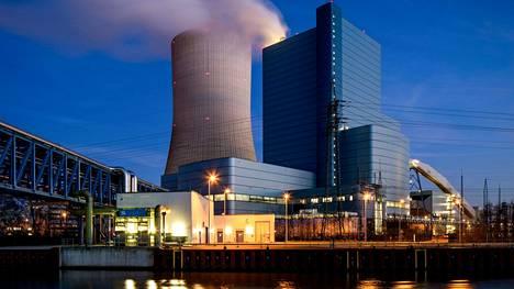 Uniperin voimalaitos Datteln 4 Nordrhein-Westfalenin osavaltiossa Saksan luoteisosassa.