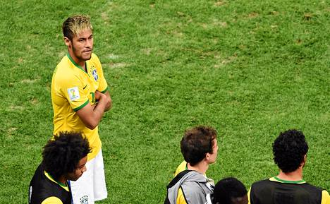 Neymar ei ollut tyytyväinen Brasilian tasoon MM-kisoissa.