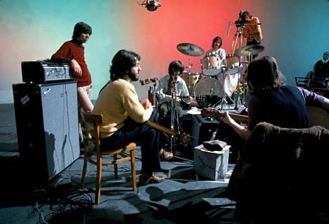 At The Beatles Twickenham Film Studio on January 7, 1969.