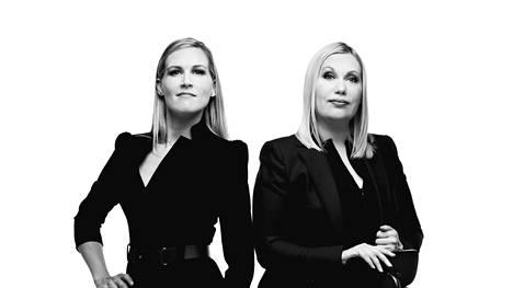 Marja Sannikka (vas.) ja Sanna Ukkola vetävät Sannikka & Ukkolaa.