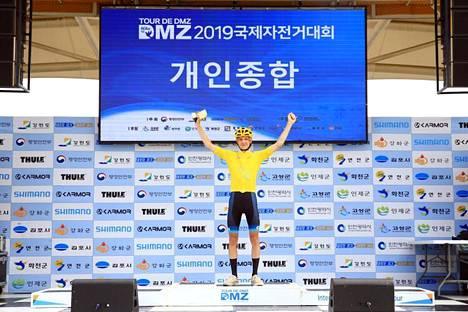 Veeti Vainio tuuletti juniorien arvostetun etappikilpailun kokonaisvoittoa viime syksynä Etelä-Koreassa.