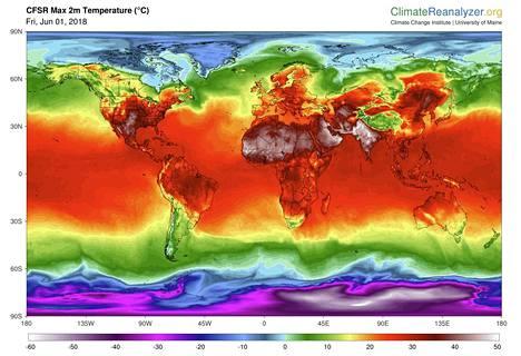 Kesäkuussa maapallolla oli paikoin poikkeuksellisen lämmintä.