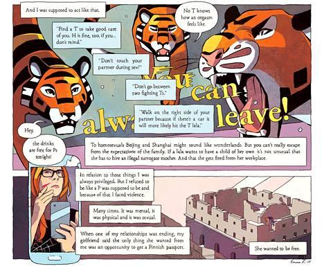 Emma Kantasen sarjakuva on esillä I Want to Break Free -näyttelyssä Sarjakuvakeskuksessa.