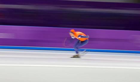 Sven Kramer matkalla olympiavoittoon.