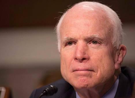 Senaattori John McCainilla diagnosoitiin syöpä aivoissa viime vuonna.