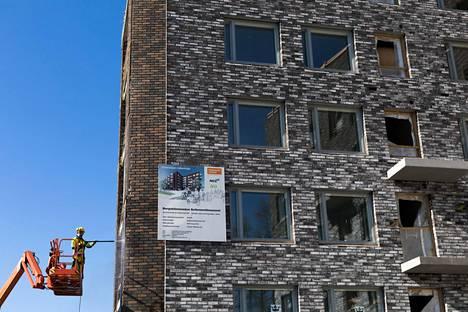 Helsingin Kruunuvuorenrantaan syntyy kovaa vauhtia uusi asuinalue.