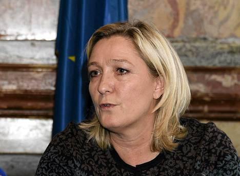 Kansallinen rintama -puolueen puheenjohtaja Marine Le Pen.