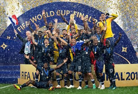 Ranska juhli maailmanmestaruutta viime kesänä Venäjän MM-kisoissa.