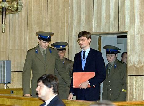 Mathias Rust oikeudenkäynnissä Moskovassa 9. toukokuuta.
