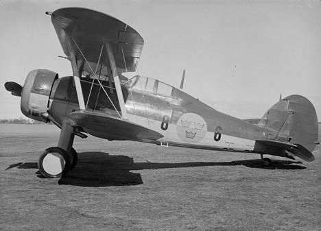 Ruotsin ilmavoimat lähetti Suomeen Gloster Gladiator -hävittäjiä talvisodan aikana.