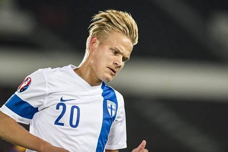 Joel Pohjanpalo pelasi vahvan syksyn maajoukkueessa ja teki tärkeitä maaleja.