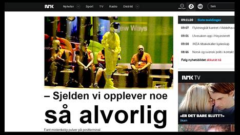 Norjan yleisradion NRK:n mukaan tilanne on poikkeuksellisen vakava.