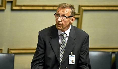 Jaakko Jonkka puhui eduskunnan kyselytunnilla syyskuussa.