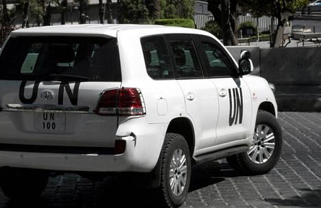 YK:n tarkastajat etsivät kemiallisia aseita Syyriasta.