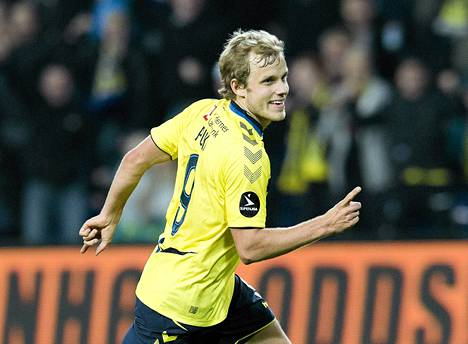 Teemu Pukki teki sunnuntaina kaksi maalia Aalborgin verkkoon Tanskan liigassa.