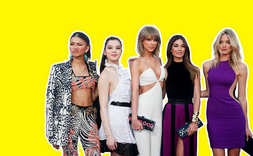 Osa THE jengiä: Zendaya, Hailee Steinfeld, Taylor Swift, Lily Aldridge, Martha Hunt