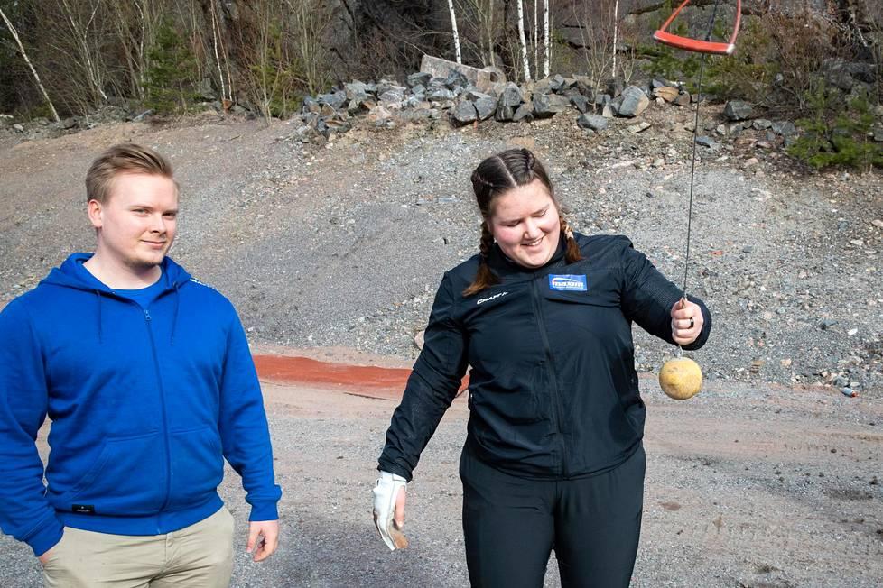 Silja Kosonen and coach Jani Pihkanen.