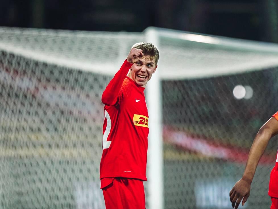 FC Nordsjællandin Oliver Antman, 19, on vakiinnuttamassa paikkaansa Tanskan pääsarjassa.